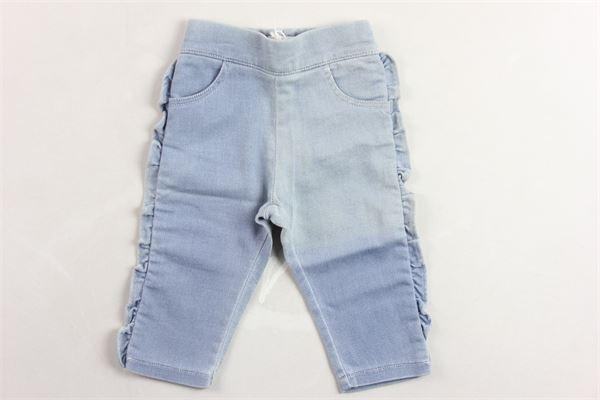 pantalone modello denim con rouche CLOE   Jeans   C04122AZZURRO
