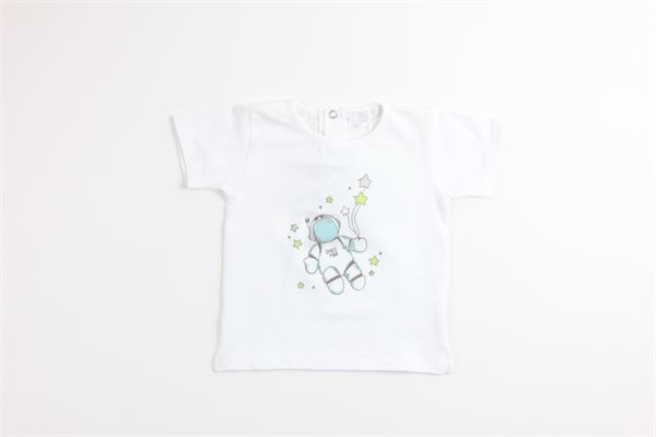t-shirt tinta unita con stampa COCCODE | T-shirts | C51205BIANCO