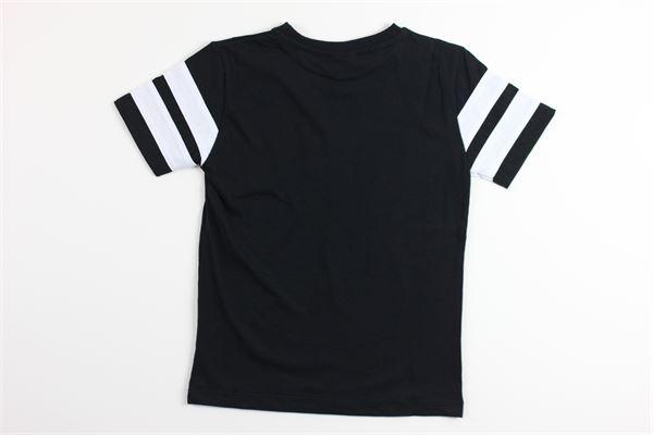 t-shirt mezza manica tinta unita con stampa logo COMME DES FUCKDOWN | T-shirts | TSCD2121JNERO