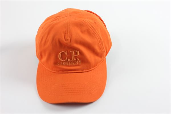 berretto tinta unita con stampa tono su tono C.P. COMPANY | Cappelli | 02CMAC096AARANCIO