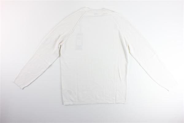 maglia tinta unita girocollo C.P. COMPANY | Maglie | 08CMKN251ABIANCO