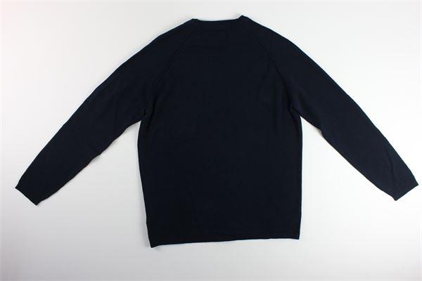 maglia tinta unita girocollo C.P. COMPANY | Maglie | 08CMKN251ABLU
