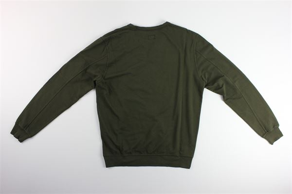 maglia tinta unita girocollo C.P. COMPANY | Maglie | 08CMSS053AVERDE MILITARE