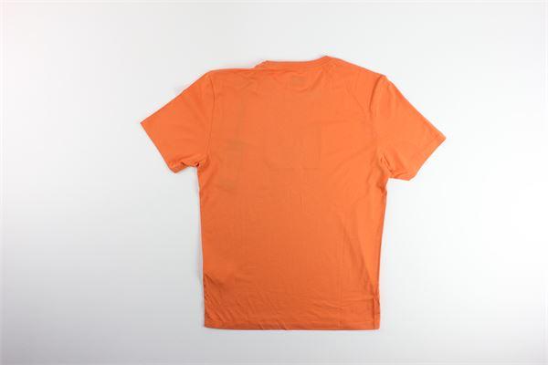 t-shirts mezza manica tinta unita con stampa tono su tono C.P. COMPANY | T-shirts | 08CMTS141AARANCIO