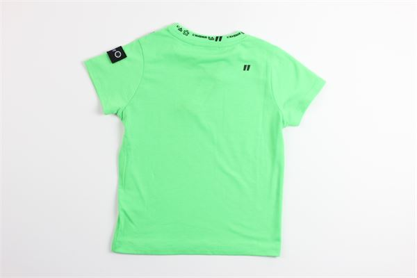 t-shirt tinta unita mezza manica DANIELE ALESSANDRINI | T-shirts | 1235M0607VERDE FLUO