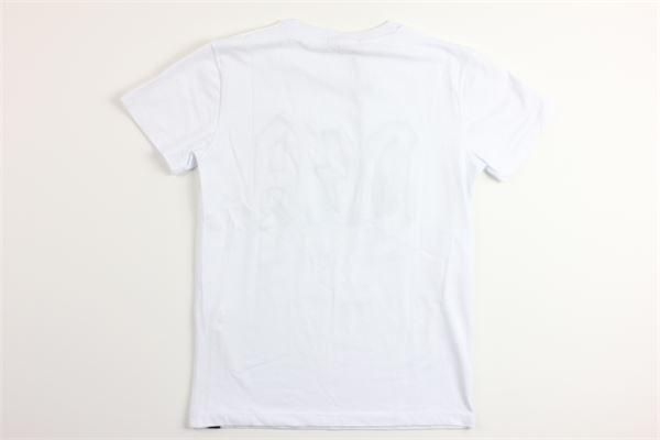 t-shirt tinta unita mezza manica con stampa DANIELE ALESSANDRINI | T-shirts | 1235M0673BIANCO