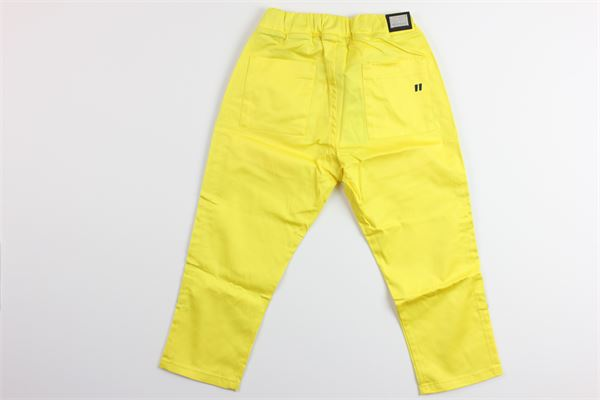 pantalone tinta unita tasche america elastico in vita DANIELE ALESSANDRINI | Pantaloni | 1235P0664GIALLO
