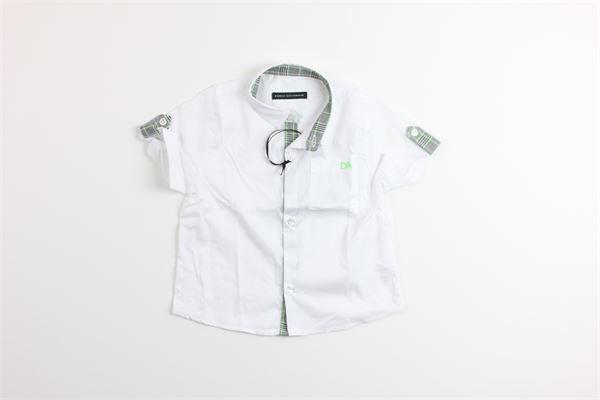 camicia mezza manica tinta unita DANIELE ALESSANDRINI | Camicie | 1295C0432BIANCO