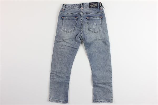 jeans tinta unita 5 yasche girovita regolabile DANIELE ALESSANDRINI | Jeans | 1295D0423BLU
