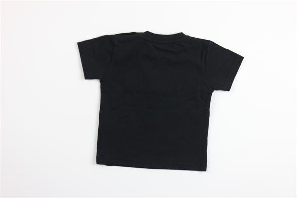 t-shirt tinta unita con stampa DANIELE ALESSANDRINI | T-shirts | 1295M0469NERO