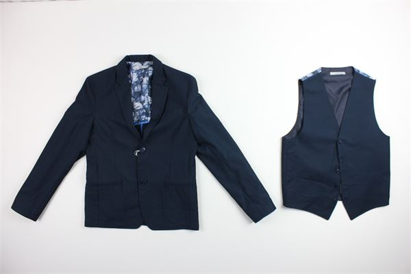 giacca gilet  tinta unita DANIELE ALESSANDRINI | Completi | 35J0607BLU