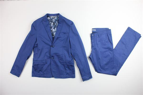 giacca e pantalone tinta unita DANIELE ALESSANDRINI | Completi | DA35A0617TCOBALTO