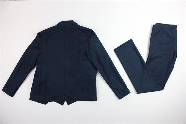 giacca gilet e pantalone tinta unita DANIELE ALESSANDRINI | Completi | DA35AB0607TBLU