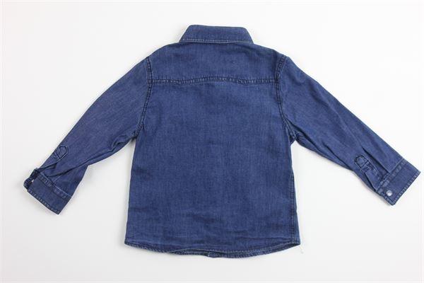 camicia in denim manica lunga DANIELE ALESSANDRINI | Camicie | DA91C0043BLU