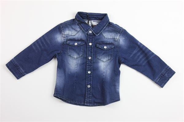 camicia in denim manica lunga DANIELE ALESSANDRINI | Camicie | DA95C0026BLU