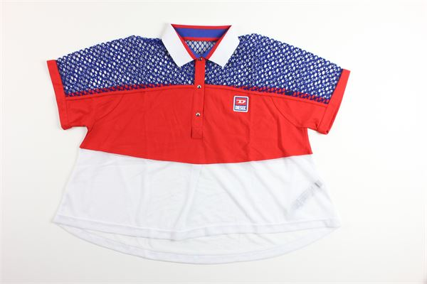 t-shirts mezza manica tricolore con stampa DIESEL | T-shirts | 00J4T4BLU/BIANCA/ROSSO