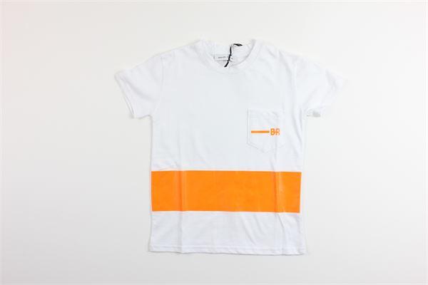 t-shirt mezza manica tinta unita con stampa BRIAN RUSH | T-shirts | BG204/20BIANCO