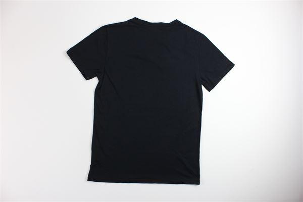 t-shirt tinta unita mezza manica con stampa DIKTAT | T-shirts | A30NERO