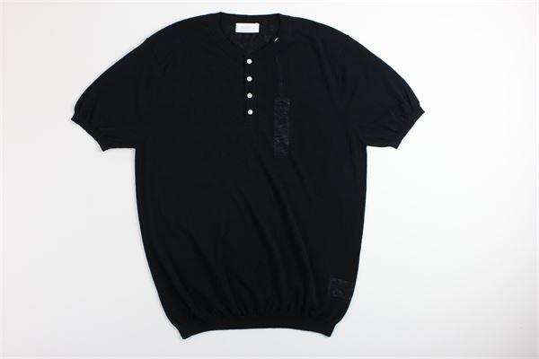 t-shirt mezza manica tinta unita DIKTAT | T-shirts | DK77012NERO