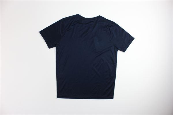 t-shirt tinta unita mezza manica con stampa DIKTAT | T-shirts | DK77107BLU