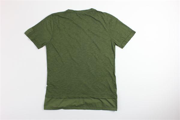 t-shirt mezza manica tinta unita DIKTAT | T-shirts | DK77146VERDE MILITARE