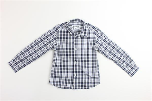 camicia manica lunga tinta unita fantasia a quasri DONDUP | Camicie | BC073GRIGIO
