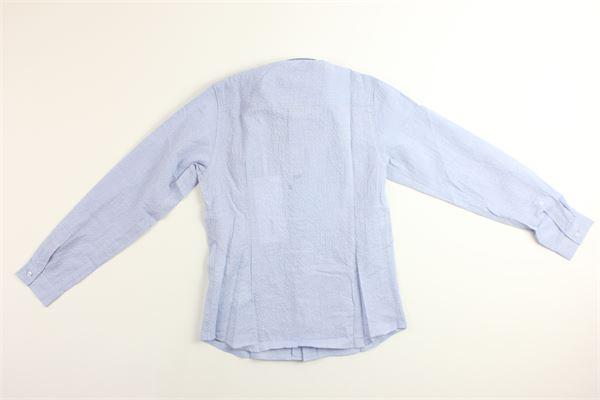 camicia manica lunga tinta unita DONDUP | Camicie | BC082CELESTE