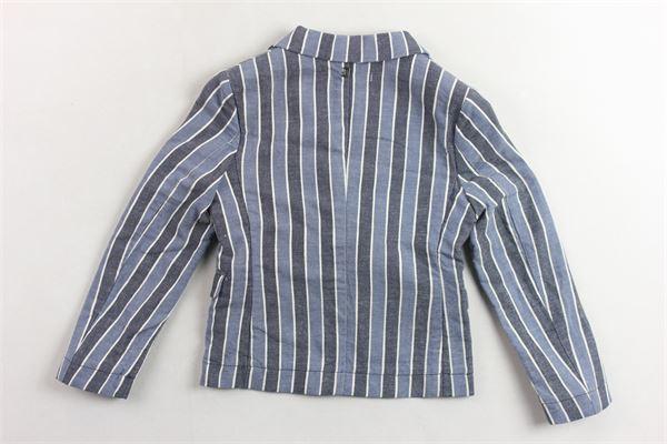 giacca  tinta unita fantasia a righe con taschini DONDUP | Giacche | BJ150LC74XXXBDS19BLU