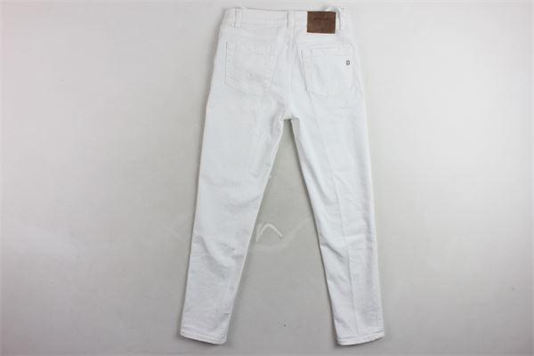 pantalone in cotone tinta 5 tasche DONDUP | Panataloni | BP219BS0009PTDBDS1BIANCO