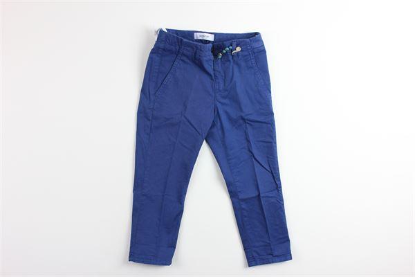 pantalone tinta unita  con girovita regolabile DONDUP | Pantaloni | BP244BLU