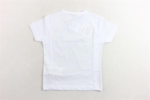 t-shirt mezza manica stampa fantasia DONDUP | T-shirts | BS115BIANCO