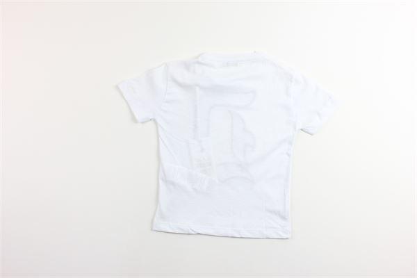 t-shirt tinta unita con stampa DONDUP | T-shirts | BS126BIANCO