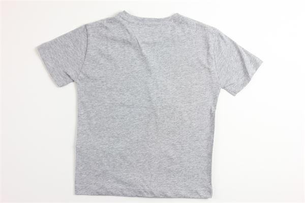 t-shirt tinta unita con stampa DONDUP | T-shirts | BS126GRIGIO