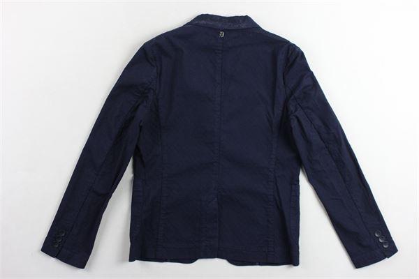 giacca  tinta unita microfantasia DONDUP | Giacche | DMGC13CF334RD005BLU