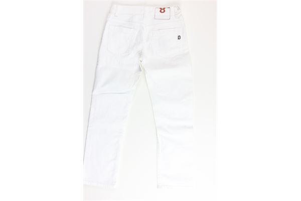 pantalone tinta unita 5 tasche DONDUP | Pantaloni | DMPA204BIANCO