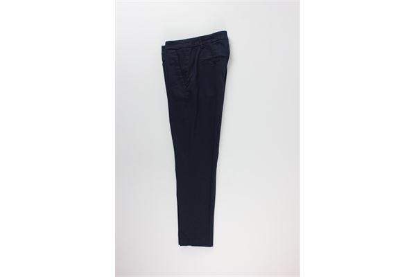 pantalone tinta unita con microfantasia DONDUP | Pantaloni | DP066XBLU