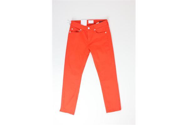 pantalone tinta unita 5 tasche DONDUP | Pantaloni | DP405ARANCIO