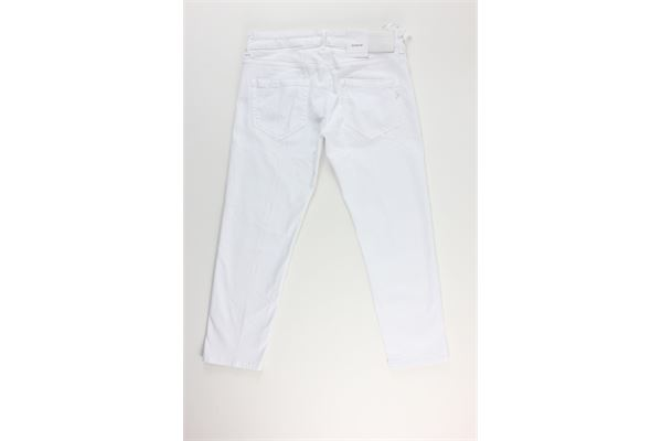 pantalone tinta unita 5 tasche DONDUP | Pantaloni | DP405BIANCO