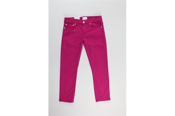 pantalone tinta unita 5 tasche DONDUP | Pantaloni | DP405FUXIA