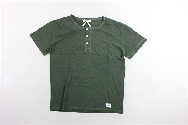 t-shirt con bottoni tinta unita DONDUP | T-shirts | JE136VERDE MILITARE