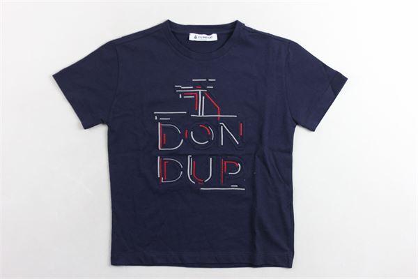t-shirt mezza manica stampa fantasia DONDUP | T-shirts | JE151BLU