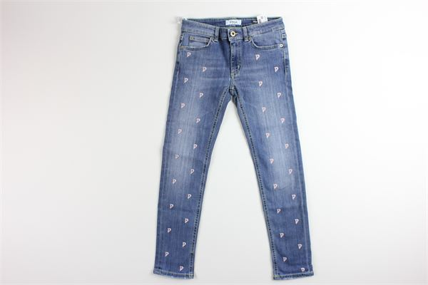 jeans tinta unita con stampa logo 5 tasche DONDUP | Jeans | TP270JEANS