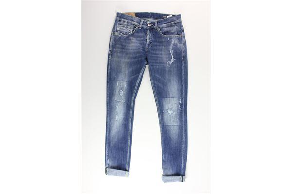 jeans tinta unita 5 tasche DONDUP | Jeans | UP2322BLU