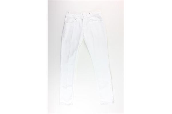 pantalone tinta unita DONDUP | Jeans | UP232BIANCO