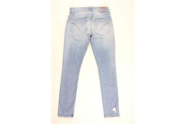 jeans tinta unita 5 tasche DONDUP | Jeans | UP23BLU