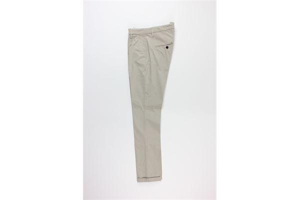 pantalone tinta unita con microfantasia DONDUP | Pantaloni | UP517BEIGE