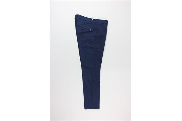 pantalone tinta unita con microfantasia DONDUP | Pantaloni | UP518BLU