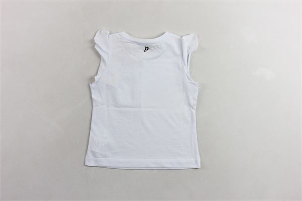 t-shirt giromanica  con stampa  tinta unita DONDUP | Canotte | YS159JE138XXXGDS19BIANCO