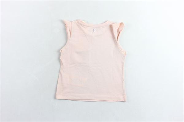 t-shirt giromanica  con stampa  tinta unita DONDUP | Canotte | YS159JE138XXXGDS19ROSA