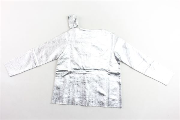 giacca laminata con fiocco DOU DOU | Giacche | FE05GRIGIO